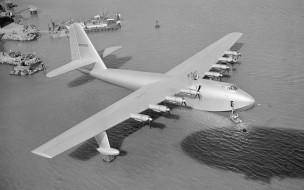 авиация, самолёты амфибии, monochrome, wallhaven, самолет, ретро