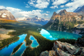 o`hara lake, british columbia, природа, реки, озера, o'hara, lake, british, columbia