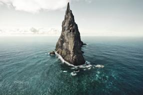 природа, моря, океаны, скала, море, остров, пейзаж