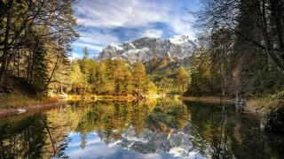 обои для рабочего стола 1920x1080 природа, реки, озера, горы, лес, река, отражение