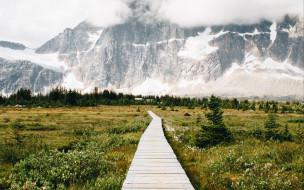 природа, дороги, горы, дорога, снег