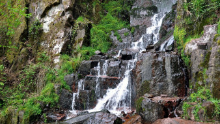 природа, водопады, скалы, водопад