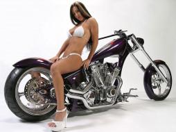 обои для рабочего стола 1024x768 мотоциклы, мото, девушкой