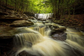 природа, водопады, лес, река, пенсильвания, каскад, pennsylvania, ricketts, glen, state, park, парк, штата, рикетс, глен, oneida, falls, онейда