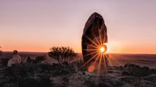 природа, восходы, закаты, камень, солнце, солнечный, свет