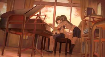 аниме, музыка, девушки