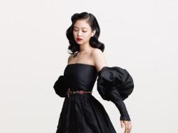 музыка, black pink, азиатка, платье