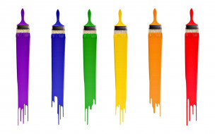разное, канцелярия,  книги, кисти, краски, цвета