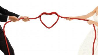 праздничные, день святого валентина,  сердечки,  любовь, веревка, сердце