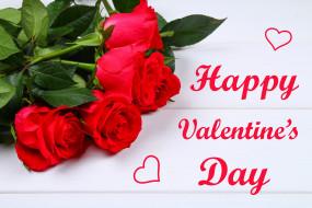 праздничные, день святого валентина,  сердечки,  любовь, розы, сердечки, надпись