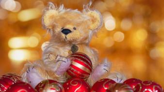праздничные, мягкие игрушки, шарики, плюшевый, медвежонок