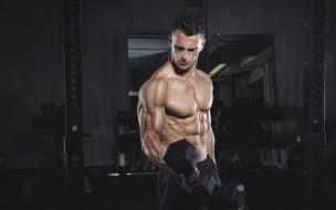 спорт, body building, бодибилдинг, культурист, мужчина, мышцы, тяжелая, атлетика, гантели