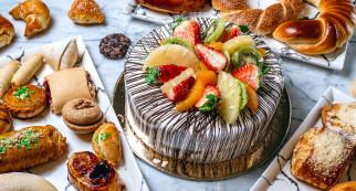 еда, торты, торт, клубника, киви