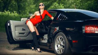 автомобили, -авто с девушками, ford, mustang