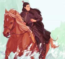 рисованное, кино,  мультфильмы, бэйтан, можань, всадник, лошадь