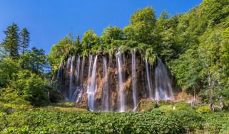 природа, водопады, деревья, скалы, водопад, хорватия, croatia, galovac
