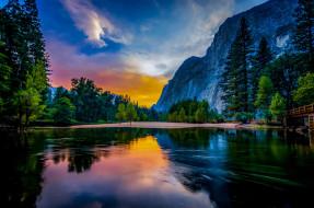 Пейзаж, Горы, Природа, Озеро, США, Йосемити, Заповедник, Национальный Парк, Йосемитский Национальный Парк, Йосемитская Долина, Yosemte Valley