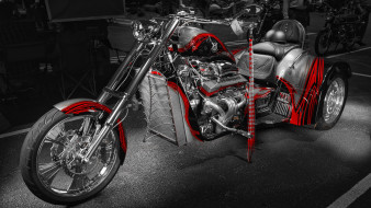 мотоциклы, customs, v8, choppers, trike