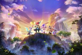 видео игры, fantasy westward journey, персонажи, горы, лес