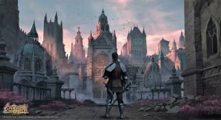 видео игры, knights chronicle, рыцарь, замок, камни, трава