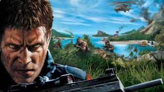видео игры, far cry 6, люди, оружие, море, горы, вертолет