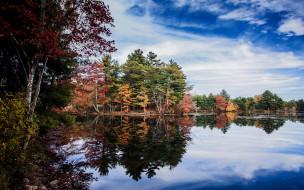 природа, реки, озера, осень, река, отражение