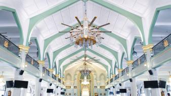 интерьер, убранство,  роспись храма, мечеть, султана, световое, украшение, ислам