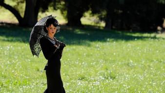 музыка, katy perry, певица, зонт, вуаль, шляпка, платье, поляна