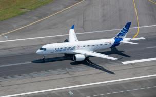 airbus, a220, bombardier, cseries, пассажирский самолет, воздушный транспорт, пассажирские перевозки, аэродром