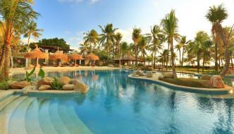 интерьер, бассейны,  открытые площадки, солнце, пальмы, бассейн, индонезия, курорт, bali, mandira, beach, resort, kuta