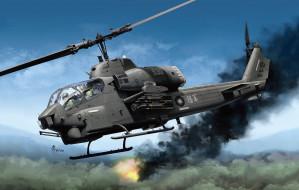 авиация, 3д, рисованые, v-graphic, тайвань, bell, ударный, вертолет, roc, ah-1w, super, cobra