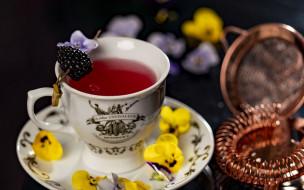 еда, напитки,  чай, чашка, чай, ягоды