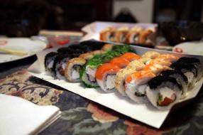 еда, рыба,  морепродукты,  суши,  роллы, суши