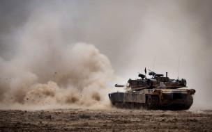техника, военная техника, танк, поле, выстрел