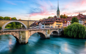 nydeggbrucke, города, берн , швейцария