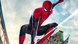 spider-man,  far from home, рисованное, кино,  мультфильмы, фантастика, человек, паук, вдали, от, дома, том, холланд, боевик
