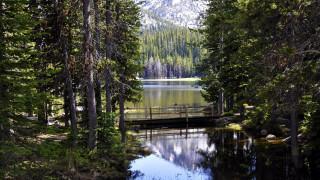 природа, реки, озера, горы, лес, озеро, мостки