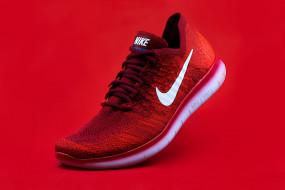 Свобода, Кроссовок, Freedom, Nike, Найк, Sneakers, Sports Shoes, Спортивная Обувь, Ярко-Красный Фон, Bright Red Background