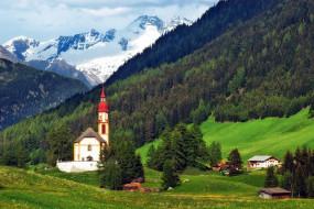города, - католические соборы,  костелы,  аббатства, горы, долина, костел, лес