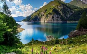 bergsee, switzerland, природа, реки, озера