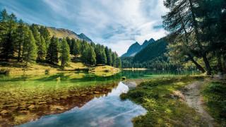 природа, реки, озера, горы, река, лес