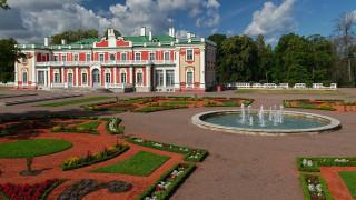города, таллин , эстония, клумбы, фонтан