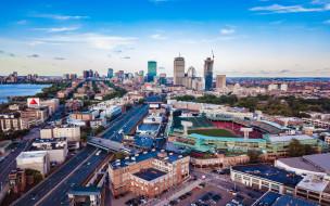 обои для рабочего стола 2560x1600 города, бостон , сша, панорама