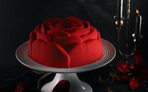 еда, торты, подсвечник, торт, свеча