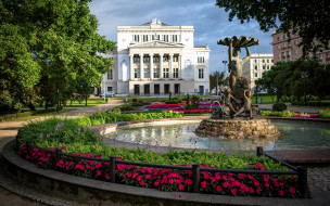Opera House обои для рабочего стола 2048x1280 opera house, города, рига , латвия, opera, house