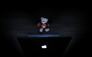разное, игрушки, мишка, ноутбук