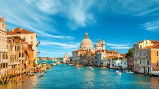 обои для рабочего стола 1920x1080 города, венеция , италия, канал, собор