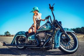 мотоциклы, мото с девушкой, chopper