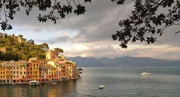 города, - улицы,  площади,  набережные, дома, италия, залив, портофино