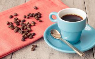 еда, кофе,  кофейные зёрна, чашка, блюдце, зерна